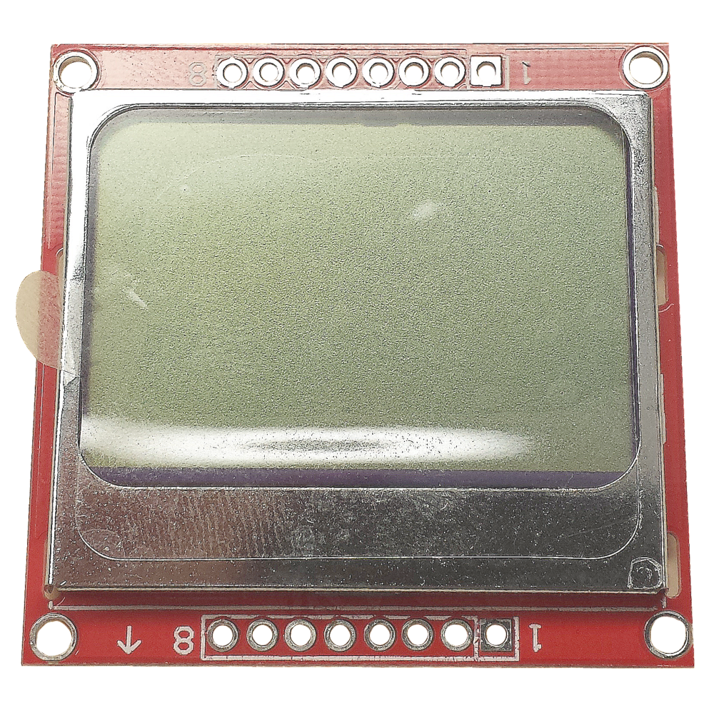 Nokia 5110 lcd module monochrome display screen 84 x 48 for arduino - Click Here To View Larger Image