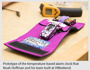 Prototype of the temperature-based alarm clock