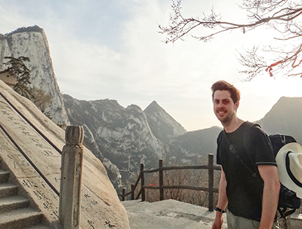 Matt Johnston on a trip to China