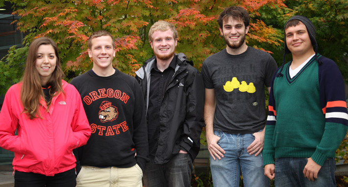 Intel Learning Company members Audrey Sullivan, Trevor Fiez, Josh Deare, Joe Runde and Dean Johnson.