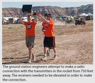 Oregon State's AIAA team at a rocketry competition.