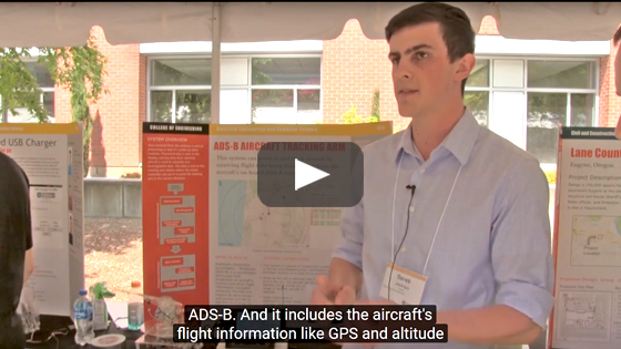 Video of aircraft tracking project