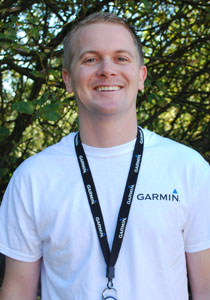 Eric Byers in his new job at Garmin