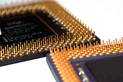Photo of computer chips