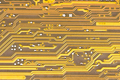Photo of a circuit board