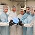 Photo of people in the clean room