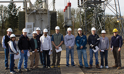 Energy systems class at a power station.
