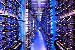 Photo of of a data center