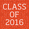 Graphic of the cover of the graduation program - Class of 2016