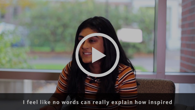 Empowering Women video preview screen - student talking