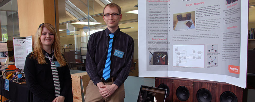 Seniors get a chance to show off their capstone projects and the Engineering Expo