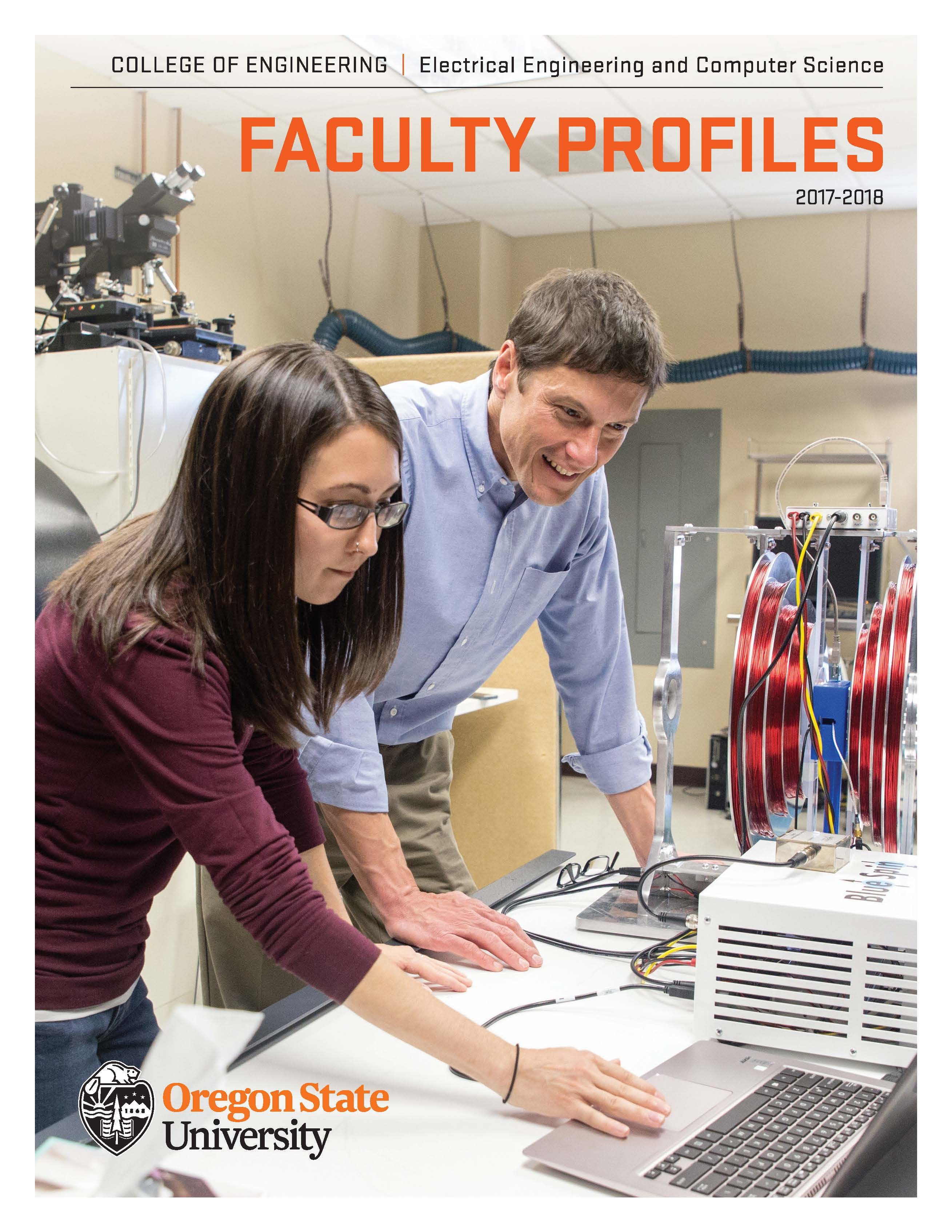 Image of faculty profiles cover page