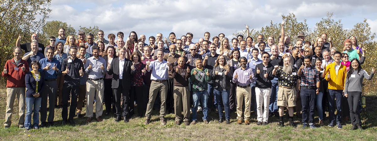 Group photo of the EECS faculty and staff
