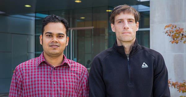 Alan Fern, professor of computer science, (right) and his Ph.D. student, Amran Siddiqui (left) are advancing methods of detecting cyberattacks known as advanced persistent threats.