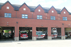 Photo of a fire station