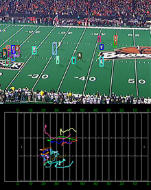 Screenshot of football analysis program using artificial intelligence