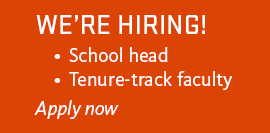 We're hiring! School head, tenure-track faculty