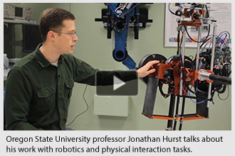 Oregon State University professor Jonathan Hurst talks about his work with robotics and physical interaction tasks.
