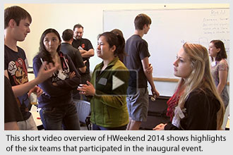 Six teams designed and built prototype devices at Oregon State's first hardware weekend.