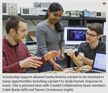 Sneha Krishna with CreateIt Collaboratory team