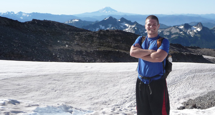 Rich Meier at Mount Rainier.