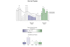 Image of sample data as charts and graphs