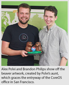Photo of Alex Polvi and Brandon Philips