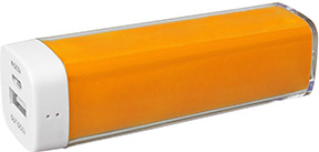 Image of an orange power bank
