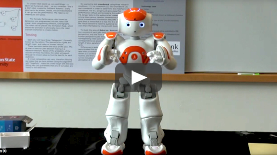 Video of robot comedy project