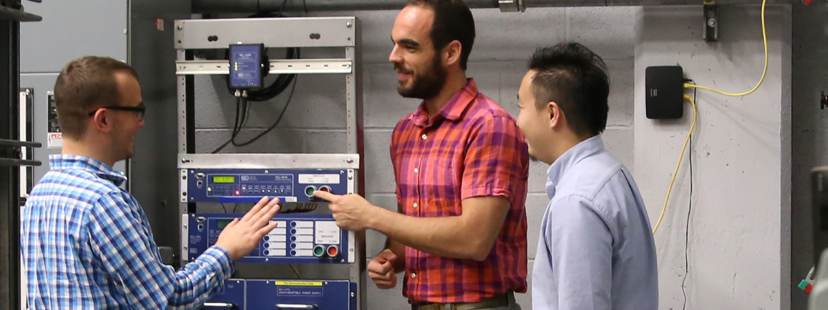 Photo of researchers in the WESRF lab