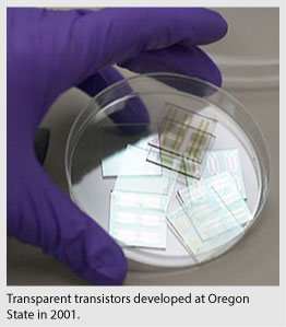 Transparent transistors developed at Oregon State.