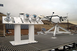 Photo of a weather station