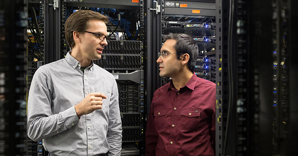 Mike Rosulek (left) and Attila Yavuz (right), assistant professors of computer science in the College of Engineering at Oregon State University, research better ways of keeping our data safe from hackers.
