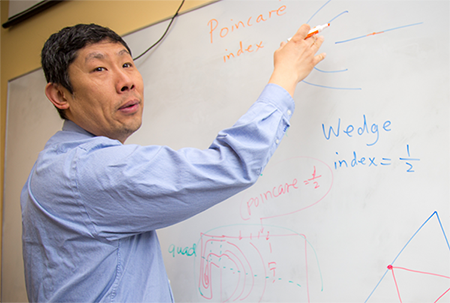 Eugene Zhang explains his research