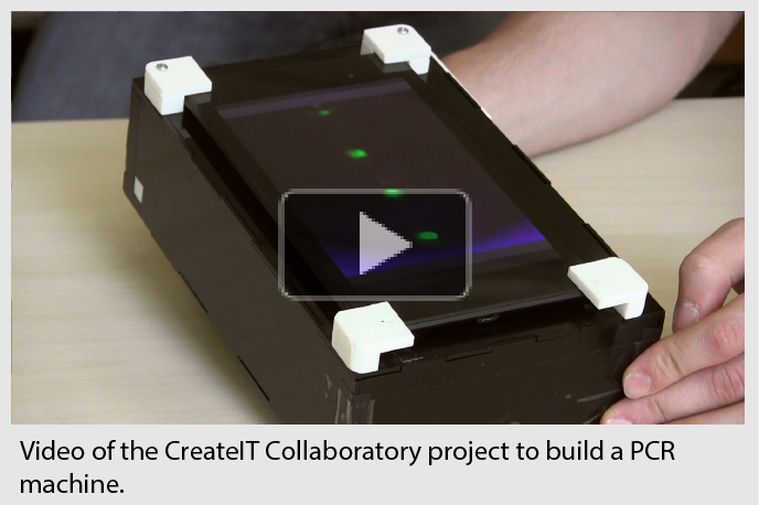Video of the CreateIT Collaboratory project to build a PCR machine.
