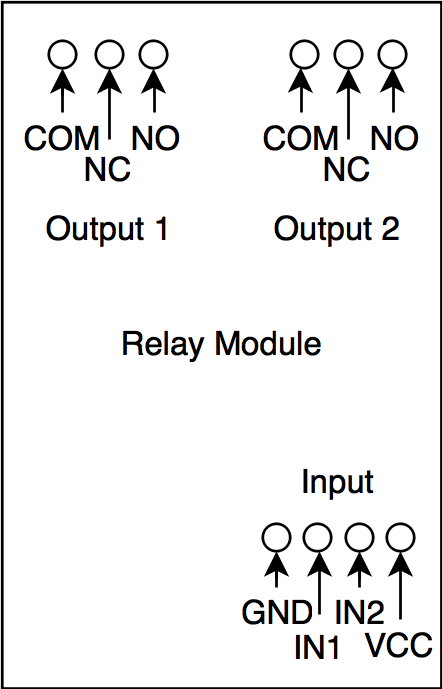 5v two channel relay