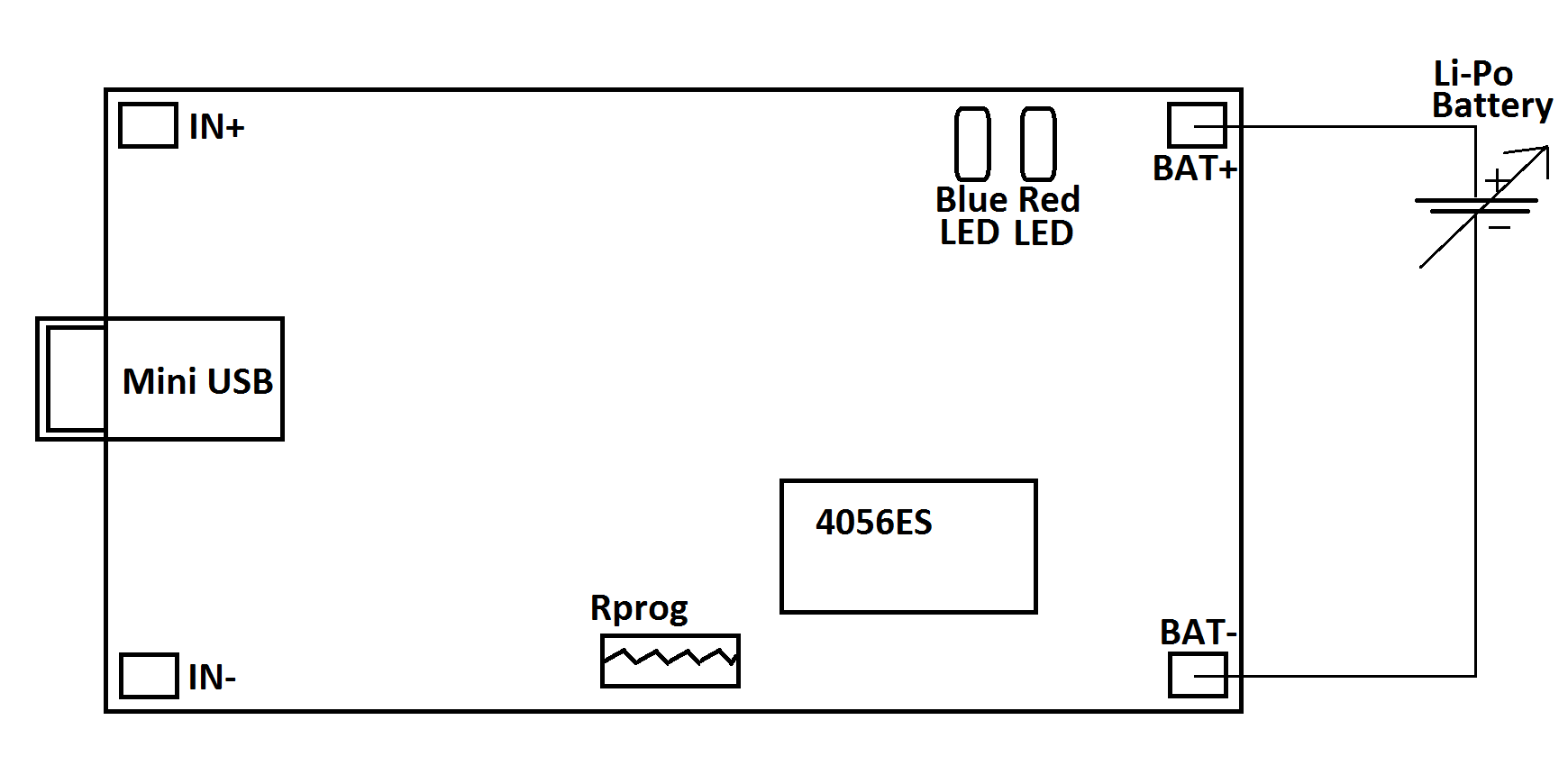 block diagram for LiPo charger